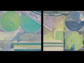 "Two Square Miles, Diptych, Oil (24""x24"" each)"